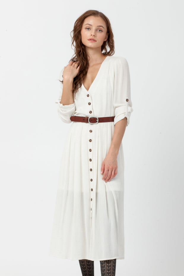 [DOUBLE ICON] CADENCE MAXI DRESS - OATMEAL
