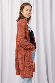 [DOUBLE ICON] GRACEFUL WAYS CARDIGAN - CORAL