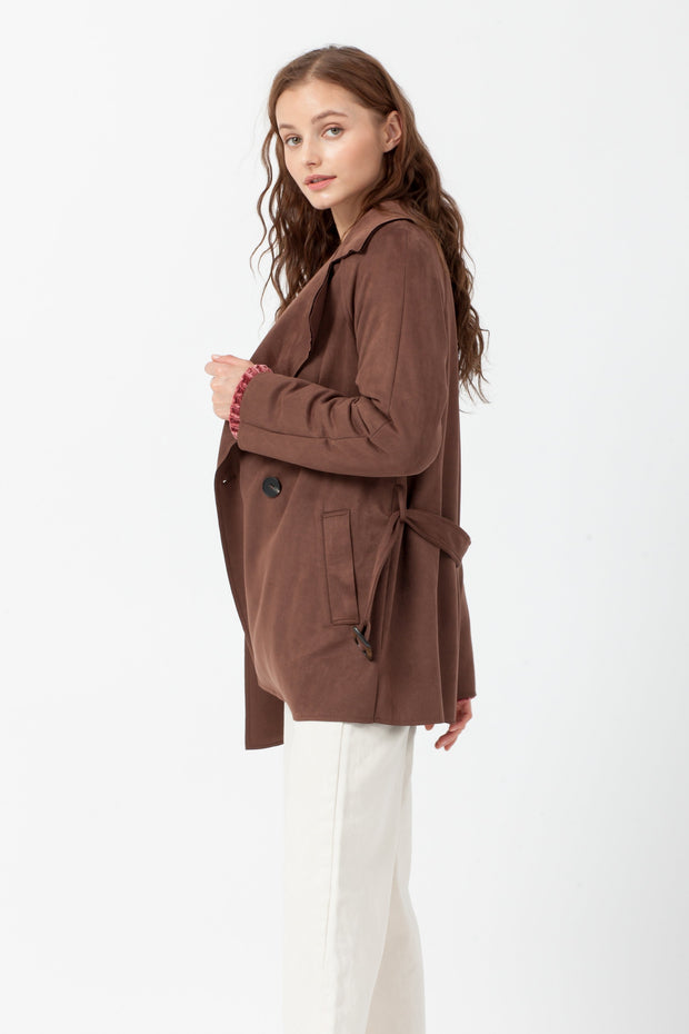 [DOUBLE ICON] MAKE THAT MOVE SCUBA SUEDE JACKET - BROWN