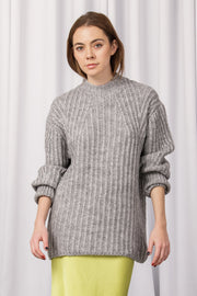 [DOUBLE ICON] FIND LOVE AGAIN SWEATER - GRAY