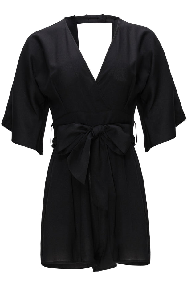[DOUBLE ICON] ALL BLACK EVERYTHING ROMPER
