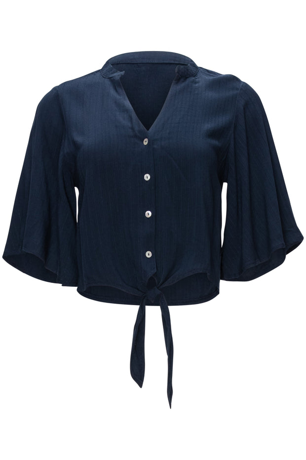 [DOUBLE ICON] SPRING FLING BUTTON DOWN TOP - NAVY