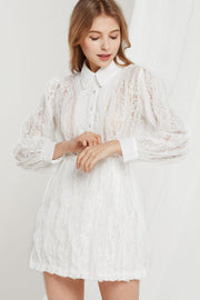 storets.com Heidi Floral Lace Shirt Dress