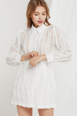Heidi Floral Lace Shirt Dress