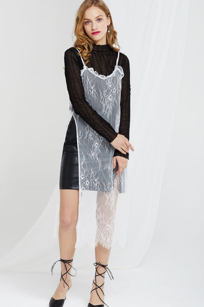 High Slit Lace Dress by STORETS