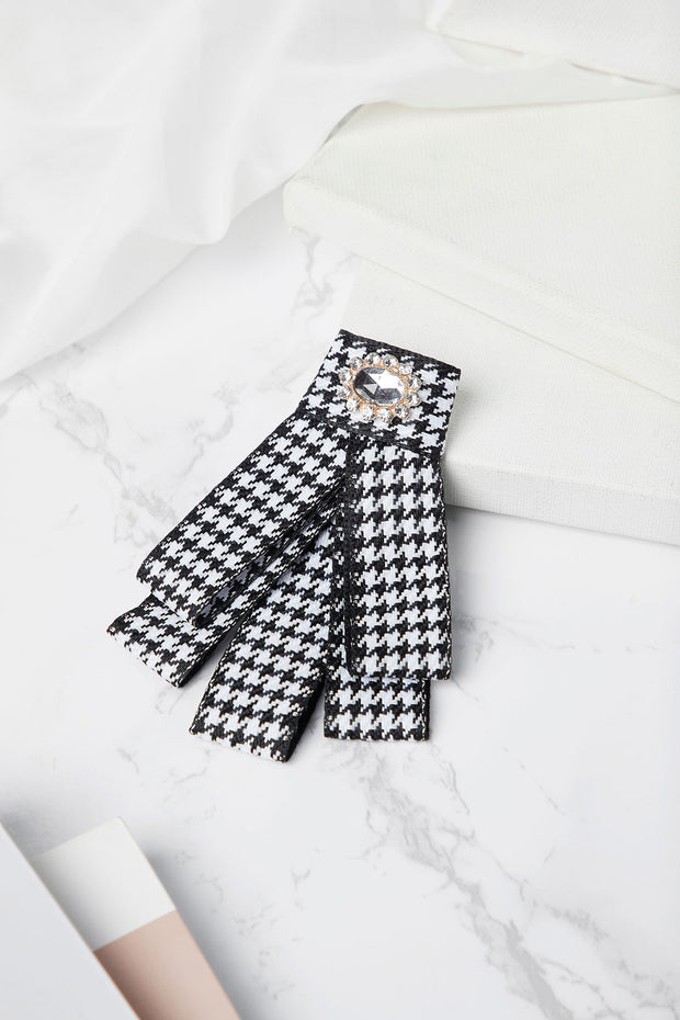 Houndstooth Bow Tie Brooch