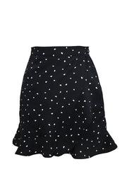 Violette Heart Print Wrap Skirt