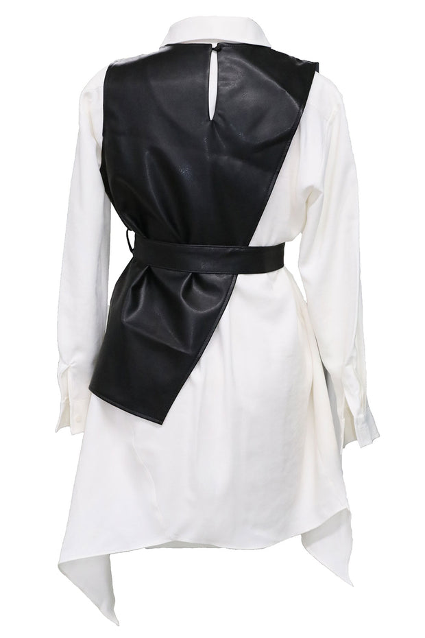 storets.com Knox Pleather Vest and Dress Set