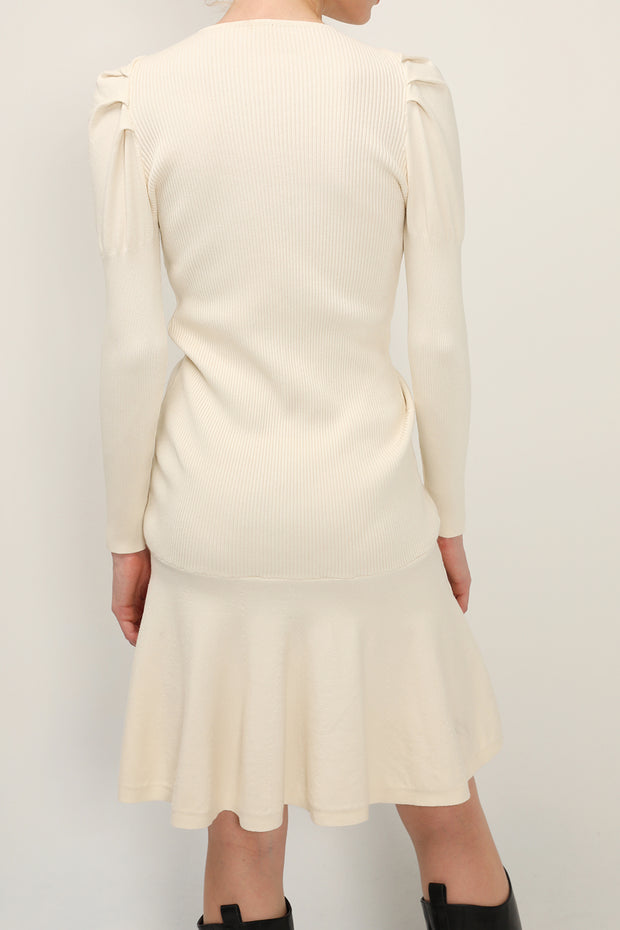 storets.com Eleanor Ruched Knit Dress