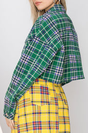 Lynn Cropped Plaid Jacket-2 Colors