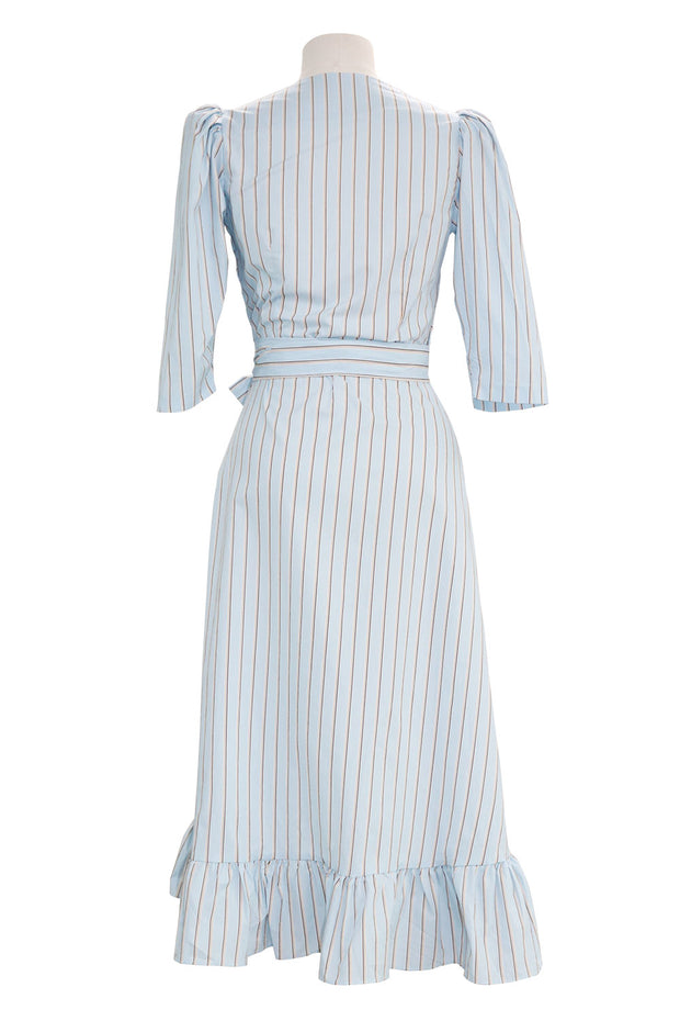 Amani Striped Wrap Dress