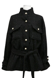 Josie Boucle Belted Safari Jacket