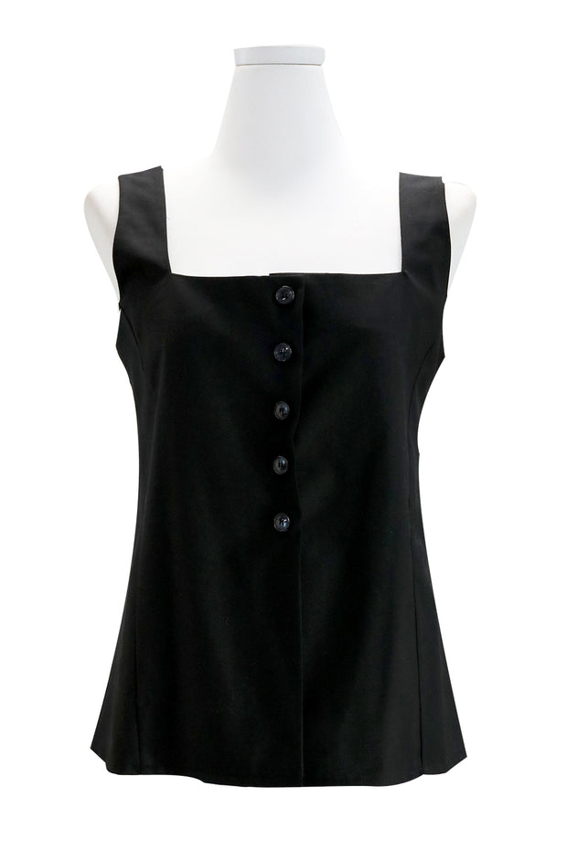 Ella Button Sleeveless Top