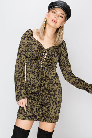 Nicole Leopard Print Dress-2 Colors (Pre-Order)
