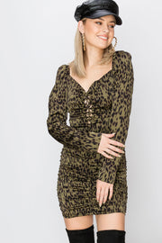 Nicole Leopard Print Dress-2 Colors