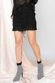 storets.com Tonya Lace Up Skirt-2 Colors