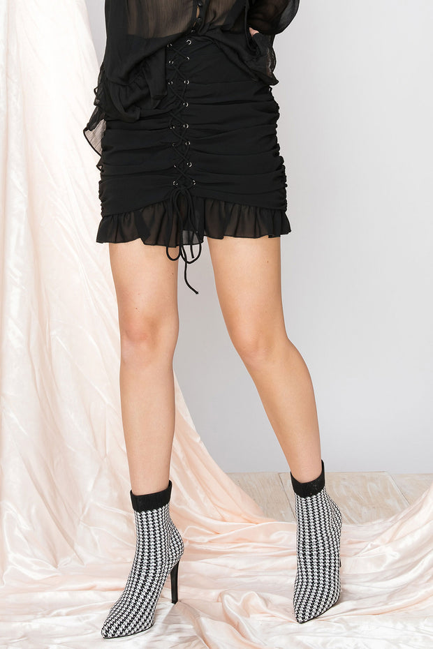 Tonya Lace Up Skirt-2 Colors