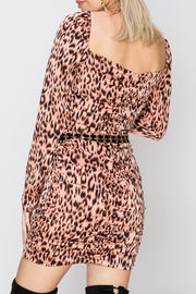 storets.com Nicole Leopard Print Dress-2 Colors