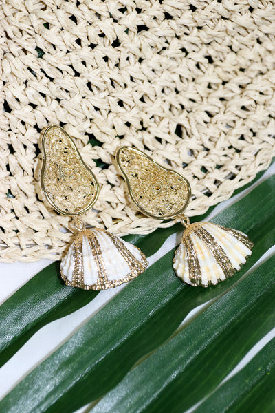 storets.com Seashell Dangle Earrings
