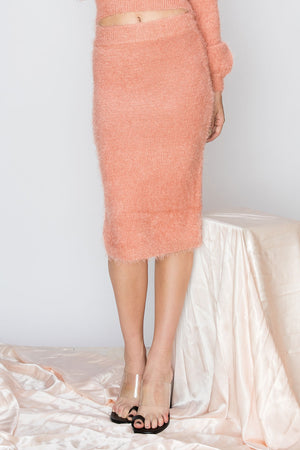 Melanie Faux Fur Pencil Skirt