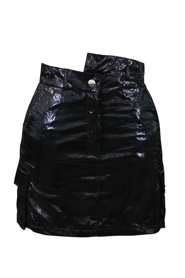 Kana Crinkle Metallic Skirt