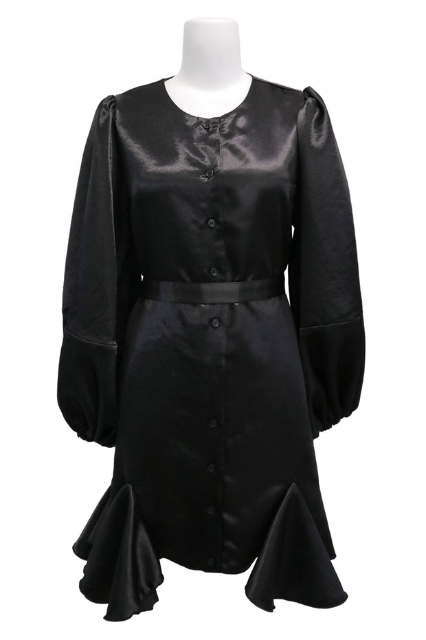 storets.com Amelia Satin Belted Shirt Dress