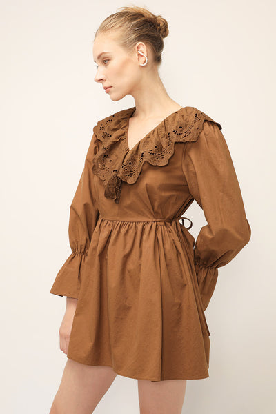 Ellie Lace Collared Dress