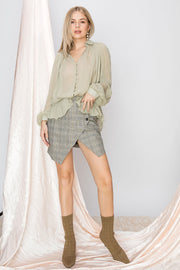 storets.com Alexa Sheer Button Down Blouse-4 Colors