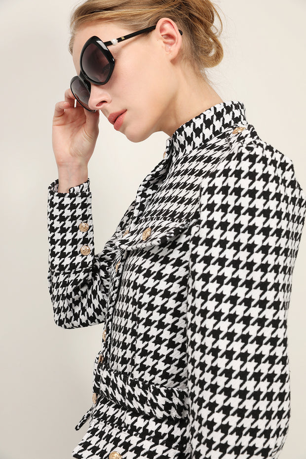 storets.com Sofia Houndstooth Jacket Dress