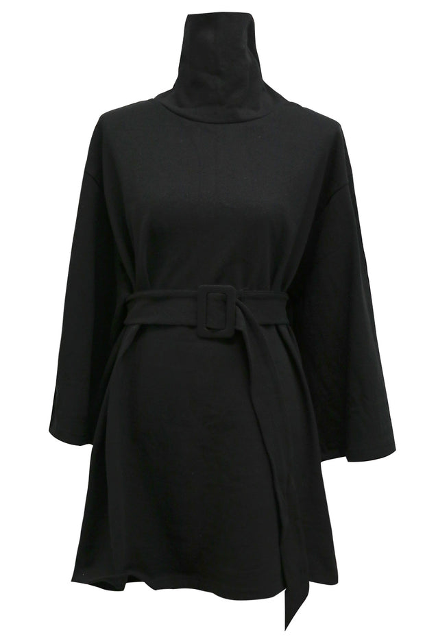 Ashley Belted Turtleneck Mini Dress