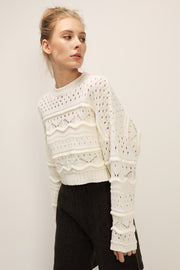 storets.com Melody Crochet Knit Top