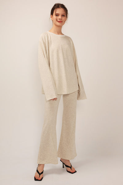 Leyla Sweatshirt And Bootcut Pants 2-Piece Set