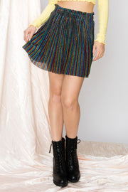 Kathy Rainbow Pleated Skirt