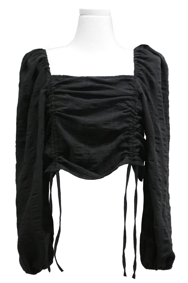 storets.com Ruth Ruched Drawstring Top
