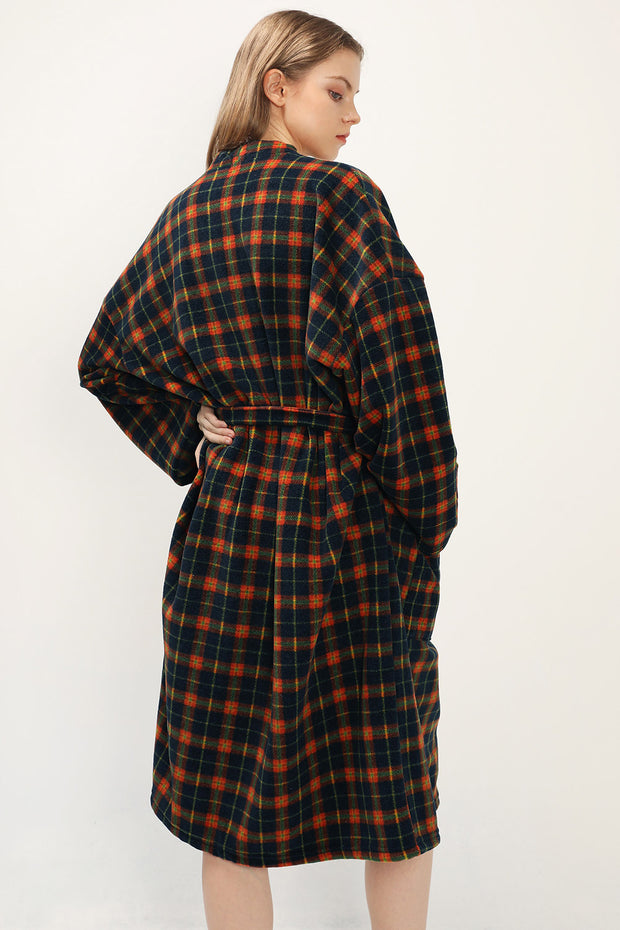 storets.com Joselyn Belted Plaid Robe