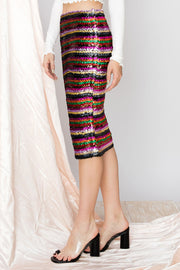 Aubrey Rainbow Sequin Two Way Dress
