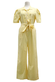 Alice Puff Sleeve Jumpsuit w/Belt