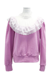 Grace Lace Yoke Sweatshirt