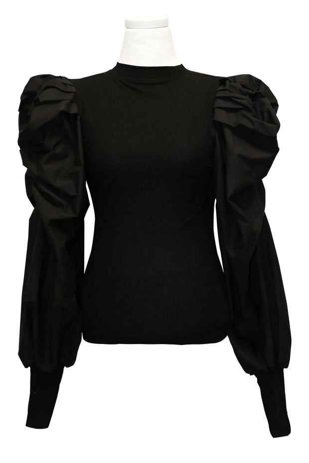 Ellen Puffed Ruched Sleeve Top