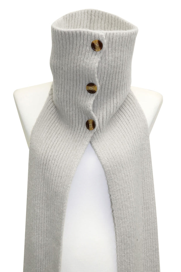 Button Turtleneck Warmer Muffler