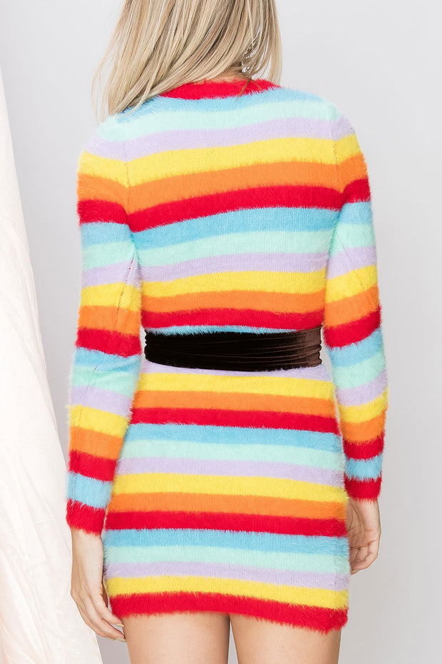 Miley Fuzzy Rainbow Dress