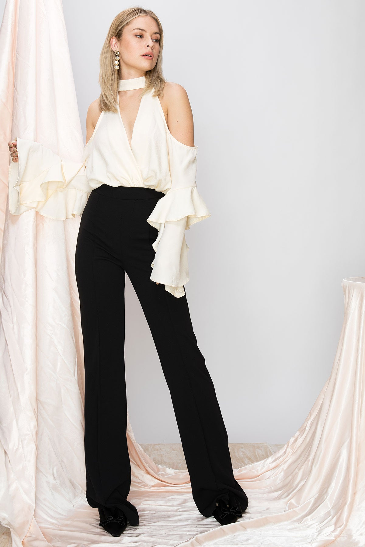 Amanda Coldshoulder Jumpsuit-2 Colors (Pre-Order)