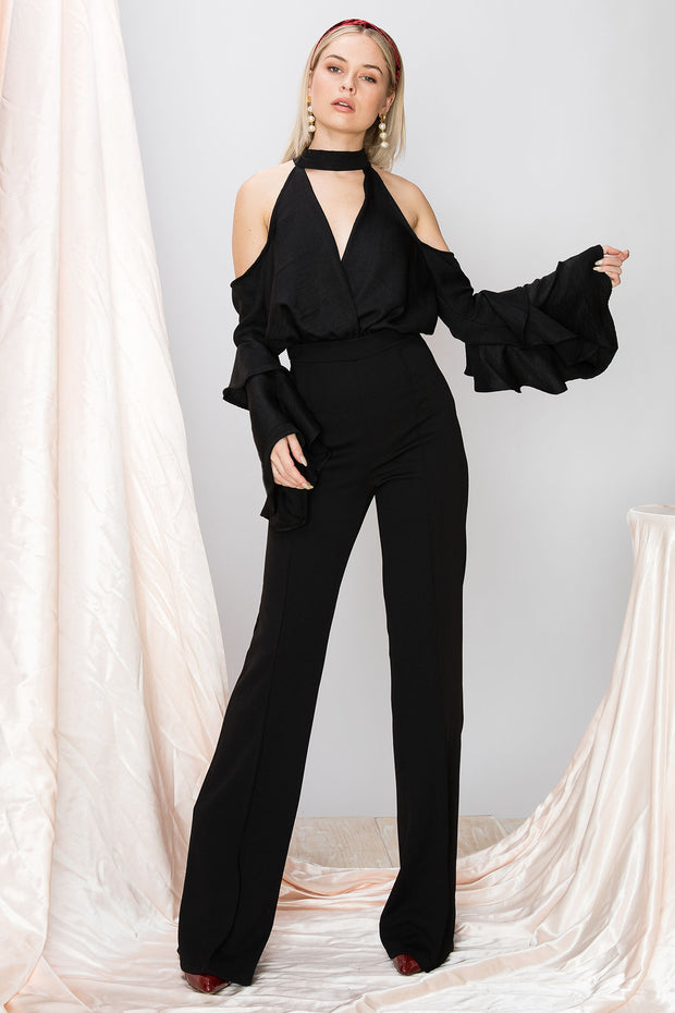 Amanda Coldshoulder Jumpsuit-2 Colors
