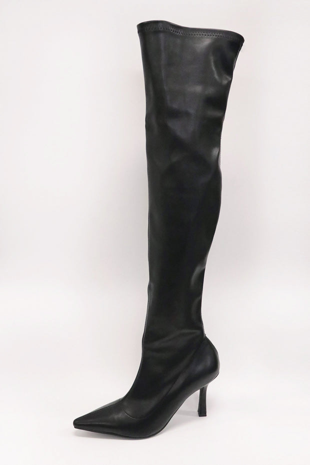Slim Fit Thigh High Boots