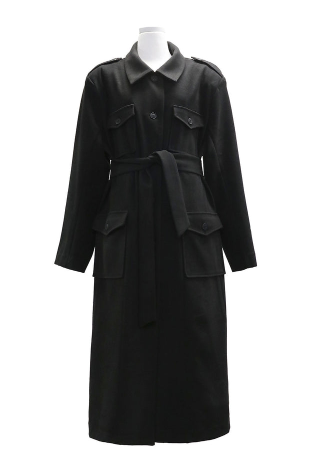 storets.com Leah Long Safari Coat w/Belt