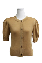 storets.com Lucy Buttoned Cardigan w/Puff Sleeve