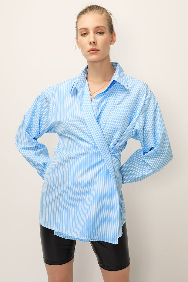 storets.com Alice Striped Wrap Shirt