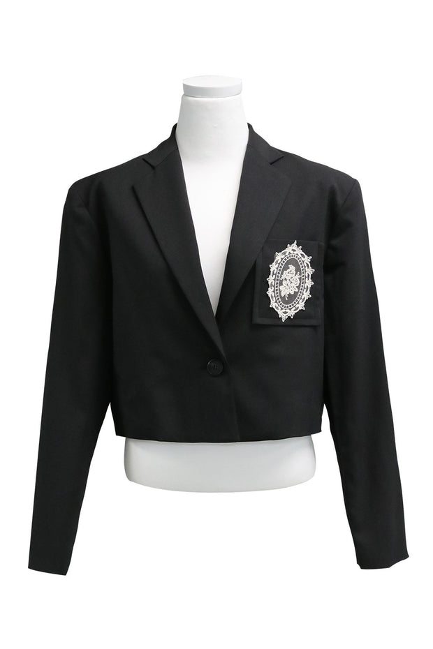 Madison Cropped Jacket w/Crest