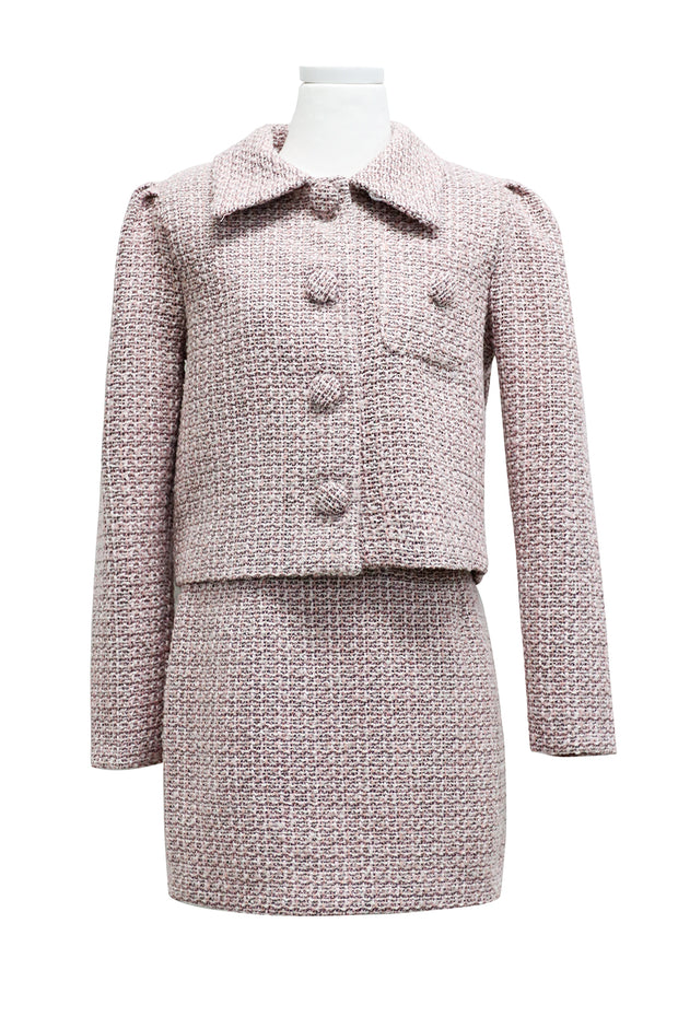 Sofia Wide Collar Tweed Jacket