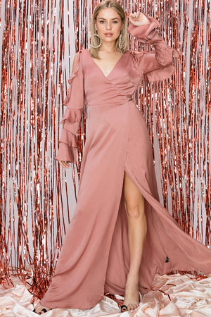 Olivia Charmeuse Wrap Dress